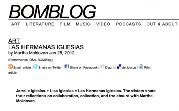 LAS HERMANAS: INTERVIEW WITH BOMBLOG