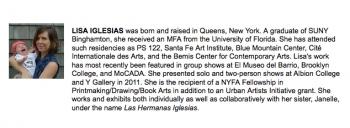 LISA: FINE ARTS WORK CENTER FELLOWSHIP